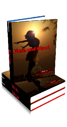 3D Ebook Cover - Flesh and Blood - by Bakerman