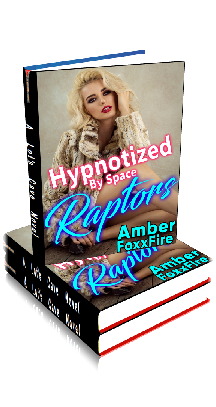 3D Ebook Cover - Hypnotized By Space Raptors - by Amber FoxxFire