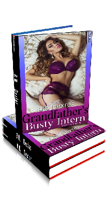 3D Ebook Cover - Grandfather's Busty Intern - by R.M. Dexter