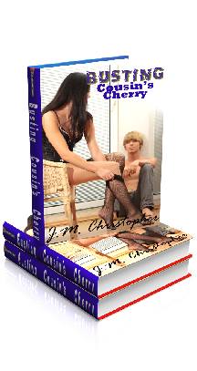 3D Ebook Cover - Busting Cousin's Cherry, by J.M. Christopher