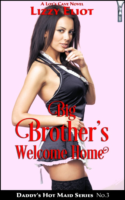 Book Cover Photo: Big Brother's Welcome Home - Daddy's Hot Maid No.3 - by Lizzy Eliot