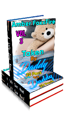 3D Ebook Cover - Taken By Daddy 20-Pack - Volume 3 - by Amber FoxxFire
