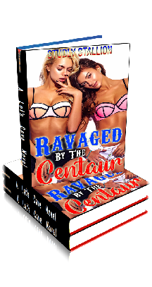 3D Ebook Cover - Ravaged By The Centaur ~ by Studly Stallion