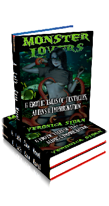 3D Ebook Cover - Monster Lovers: 6 Erotic Tales of Tentacles, Aliens & Impregnation ~ by Veronica Sloan