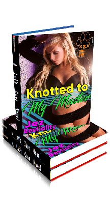 3D Ebook Cover - Knotted To My Master - by Jez Bestiality