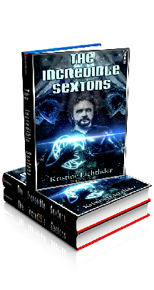 3D Ebook Cover - The Incredible Sextons - by Kristine Lichtlider