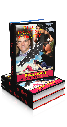 3D Ebook Cover - The Domino Theory, by Baron LeSade