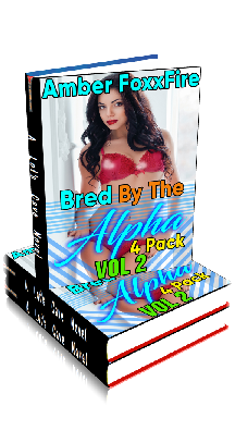 3D Ebook Cover - Bred by the Alpha - 4-Pack Volume 2 - by Amber FoxxFire