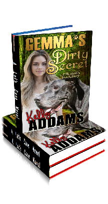 3D Ebook Cover - Gemma's Dirty Secret ~ A Bestiality Story ~ by Kelly Addams
