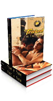 3D Ebook Cover - Tricked or Treated, by M.F. Paul