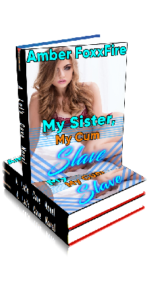 3D Ebook Cover - My Sister, My Cum Slave - by Amber FoxxFire