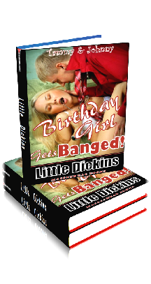 3D Ebook Cover - Birthday Girl Gets Banged - Tammy & Johnny No.5 - by Little Dickins