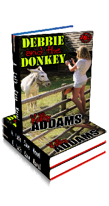 3D Ebook Cover - Debby And The Donkey ~ by Kelly Addams