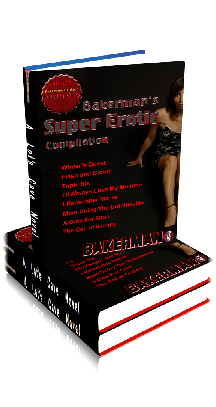 3D Ebook Cover - Bakerman's Super Erotic - 8-Pack Compilation - by Bakerman