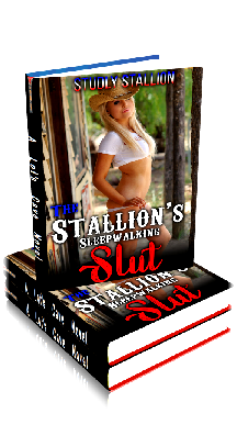 3D Ebook Cover - The Stallion's Sleepwalking Slut - by Studly Stallion